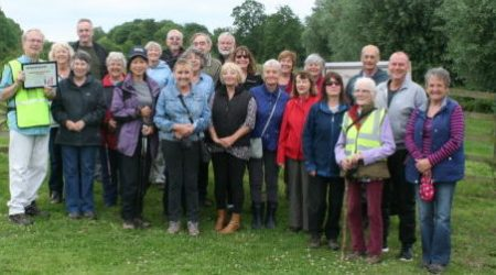 People in Walking for Health group