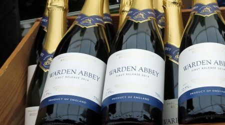 Crate of Warden Abbey Sparkling Wine