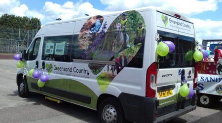 Greensands Community Transport minibus
