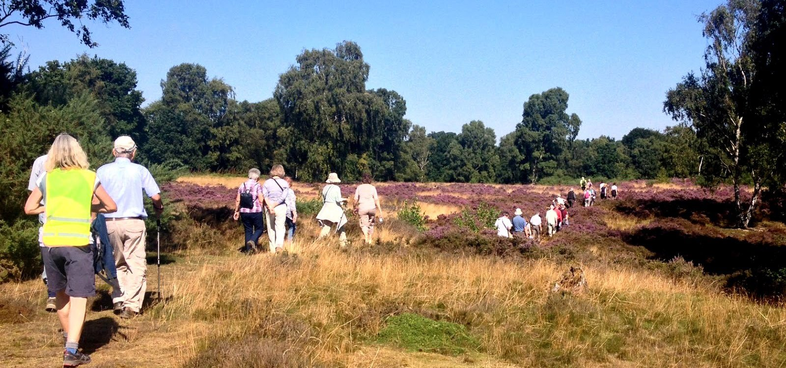 People on health walk at Coopers Hill Bedfordshire