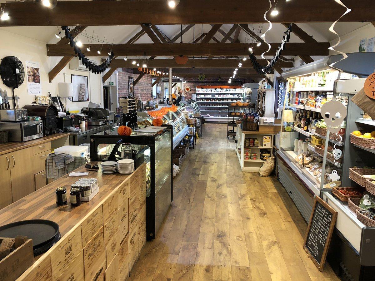 Inside photo of the Barn cafe and shop at Cardington