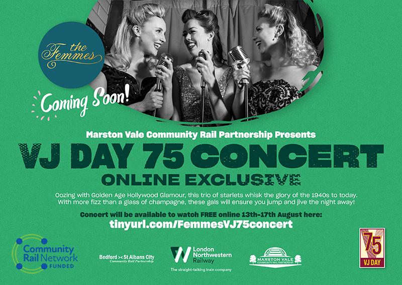 VJ Day 75 year concert flyer