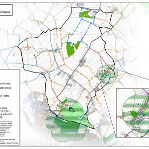 Access to Green Space map