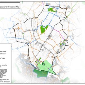 Ravensden Access map