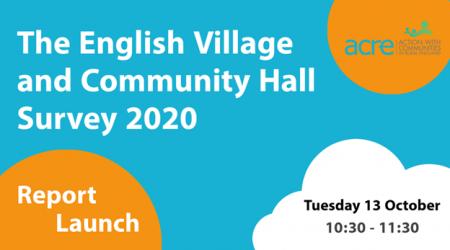 English Village Community Hall Survey Sign