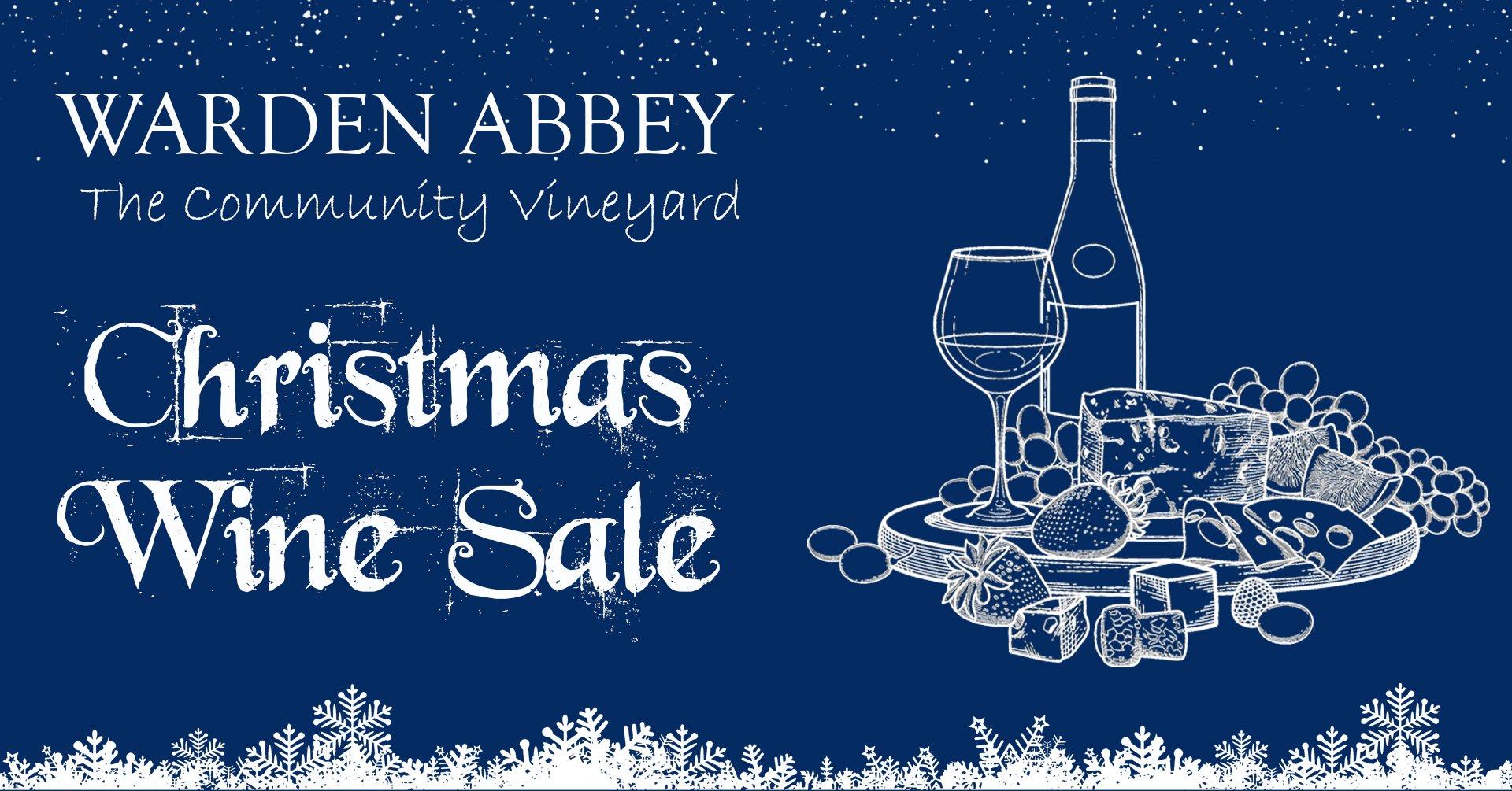 Warden Abbey Christmas wine sale poster