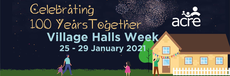 Village Halls Week 2021 poster