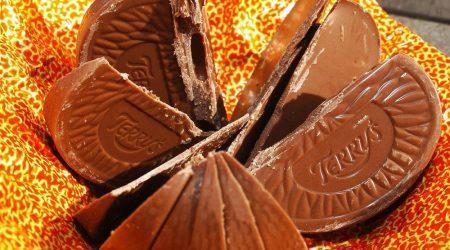 Unwrapped Terry's chocolate orange