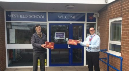 Marston Vale Community Rail Partnership donating to Westfield School