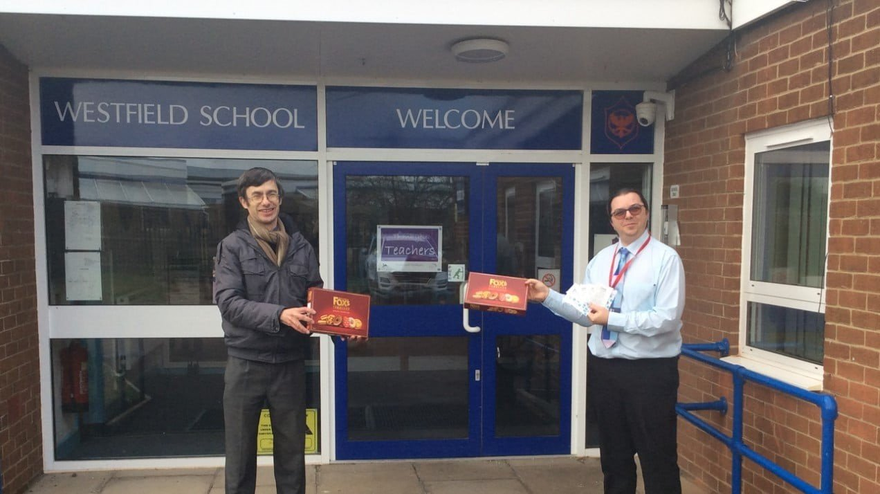 Marston Vale Community Rail Partnership donating to Westfield School