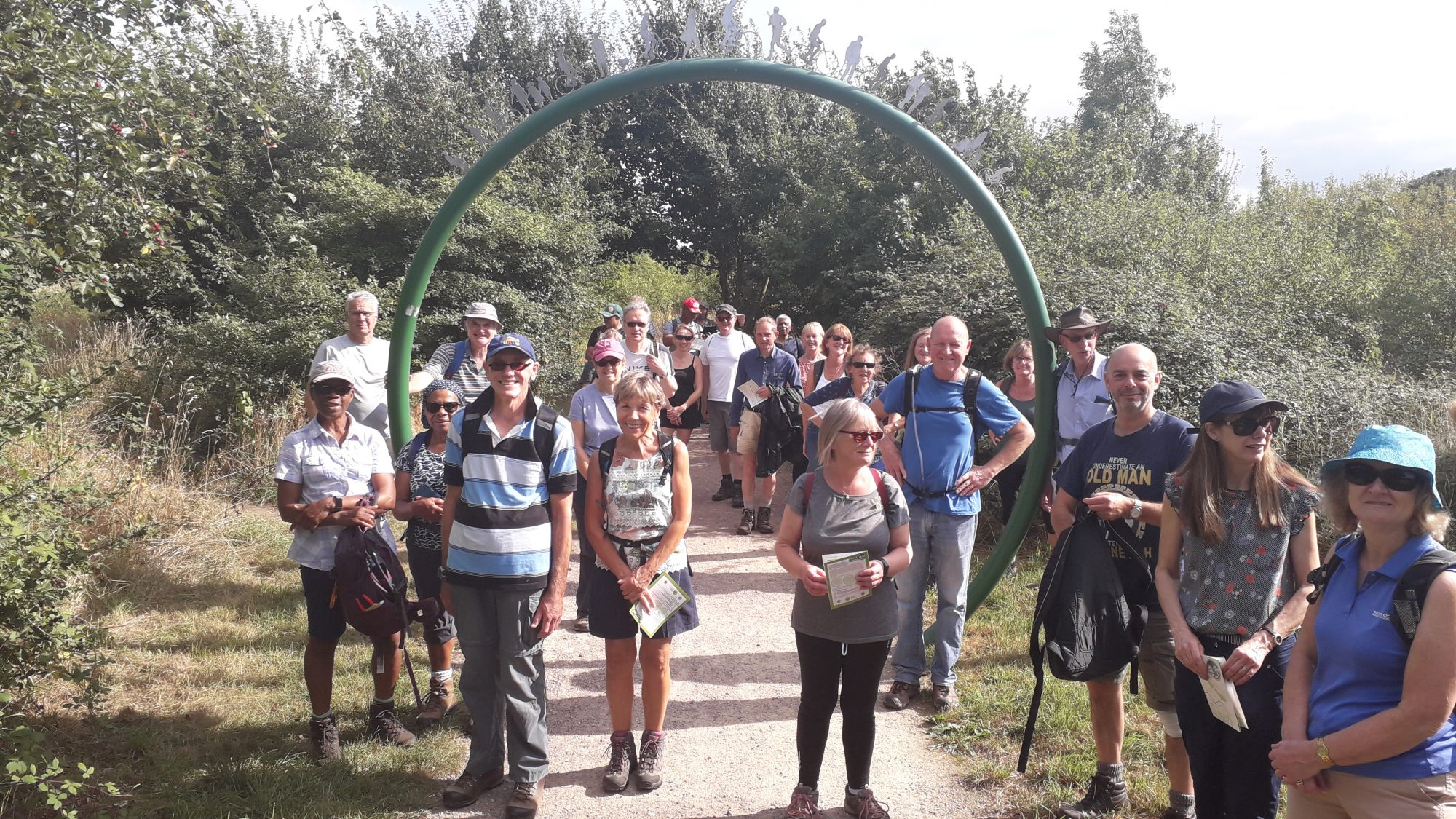 walkers who completed an 8 mile route