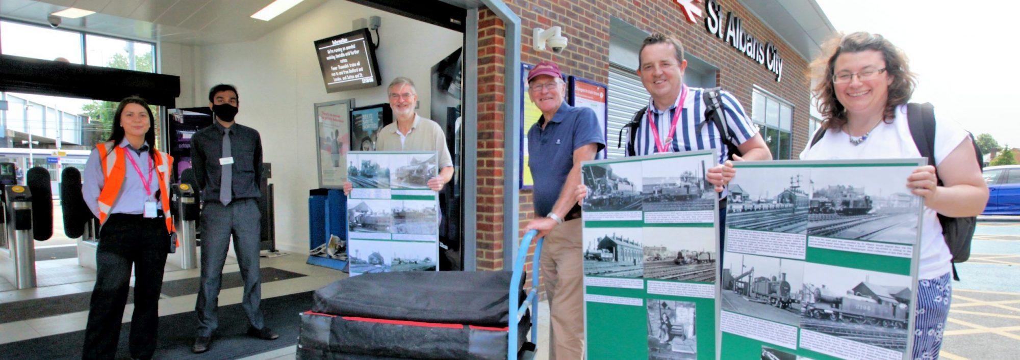 Photo exhibition now arriving on platform 4